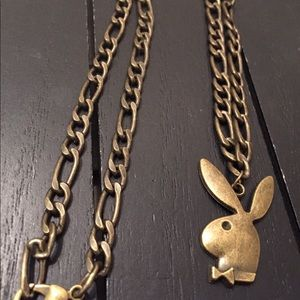 Other - Designer Elongated Necklace with Playboy Pendant